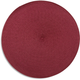Cranberry Round Woven Placemat