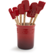 Le Creuset Cerise 7-Piece Tools Set