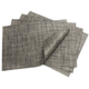 Chilewich Carbon Rectangular Basketweave Placemat