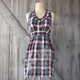 Checkered Floral Vintage-Inspired Apron