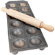 Round Italian Ravioli Maker with Rolling Pin