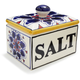 Blue Floral Ceramic Salt Box