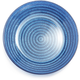 Blue Glass Rope Plate, 6