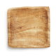Enrico Square Rustic Wood Plate