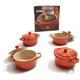 Le Creuset® Flame Mini Casserole, Set of 4 & Bonus Cookbook