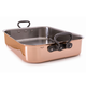 Mauviel® M'Heritage Copper Roasting Pan with Cast Iron Handles, 15¾