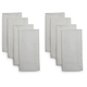White Herringbone Napkins, Set of Eight