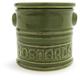 Italian Ceramic Mustard Pot, Olive