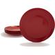 Italian Stoneware Dinner Plate, Red