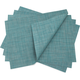 Chilewich® Turquoise Mini-Basketweave Placemat