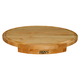 John Boos & Co. Maple Edge-Grain Oval Countertop Cutting Board with Juice Groove, 24