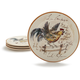 Poetic Rooster Salad Plate, 9