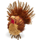 Decorative Large Grass Turkey with Feathers