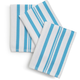 Sur La Table Aqua Striped Dishcloths, 15