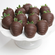 Belgian Chocolate Dipped Strawberries, 1 Dozen