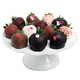 Chocolate-Dipped XOXO Strawberries, 1 Dozen
