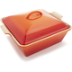 Le Creuset® Flame Heritage Square Covered Baker, 2½ qt.