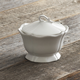 Baroque White Sugar Bowl, 4½