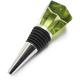 Green Glass Jewel Wine Bottle Stopper