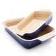 Le Creuset® Cobalt Rectangular Baker 2 Piece Set