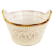 Italian Olive Bowl with Handles