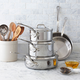 Mauviel® M'Cook Stainless 8-Piece Set