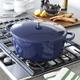 Sur La Table® Blue Cast-Iron Oval Oven, 8 qt.
