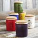 Italian Ceramic Salt Jars