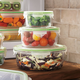Kinetic Go Green GlassLock Food Storage–Round, Set of 3