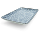 Kotobuki Blue Floral Sushi Plate, 8