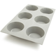 de Buyer® Elastomoule Silicone Muffin Mold, 6 Portions
