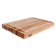John Boos & Co. Maple Edge-Grain Cutting Board with Juice Groove and Chrome Handles, 24