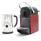 Nespresso® Pixie and Aeroccino Plus Milk Frother Set, Carmine Red