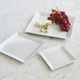 Blanc Square Platters, Set of Three
