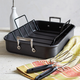 Sur La Table® Hard-Anodized Roasting Pan with Nonstick Rack and Bonus Lifters