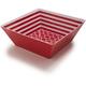 Red-Striped Melamine Serving Bowl