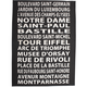 Paris Attractions Towel