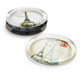 Paris Glass Coasters, Set of 4