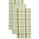 Stripe & Plaid Kitchen Towels, Sets of Three