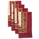 Couleur Nature Fleur Des Indes Printed Napkins, Set of 4