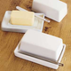 Rectangular Butter Dish with Knife