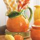 Ceramic Orange Pitcher, 54 oz.