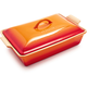 Le Creuset Heritage Flame Covered Baker, 4 qt.