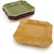 Rustic Ceramic Square Plates