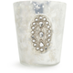 Silver Jeweled-Glass Votive Candle Holder, 3