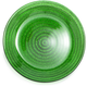 Green Glass Rope Plates, 6