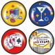 Las Vegas Clicks iPop Magnet, Set of Four