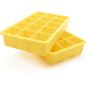 Sunshine-Yellow Perfect Cube Ice Trays, Set of 2