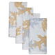 Metallic Leaf Napkins, Set of 4