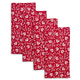 Red Fiore Napkins, Set of 4